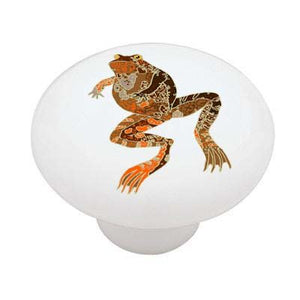 Art Deco Frog Ceramic Drawer Knob