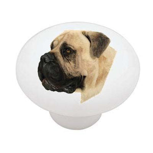 Bullmastiff Ceramic Drawer Knob