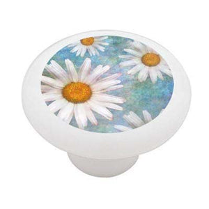 Spring Daisies Ceramic Drawer Knob