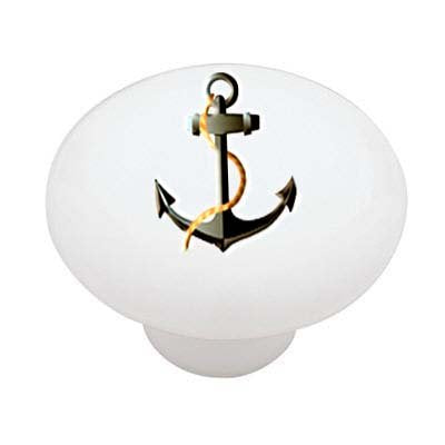 Nautical Anchor Ceramic Drawer Knob