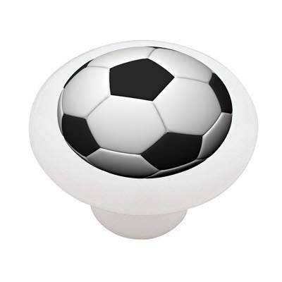Soccer Ball Ceramic Drawer Knob