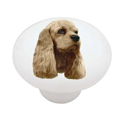 Cocker Spaniel Ceramic Drawer Knob