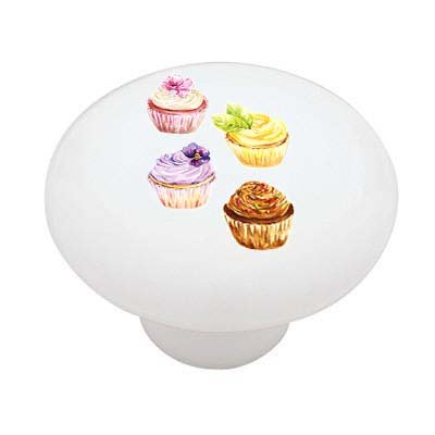 Yummy Cupcakes Ceramic Drawer Knob