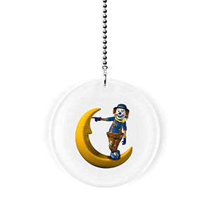 Clown on the Moon Fan Pull