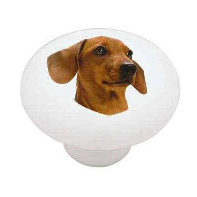 Dachshund Ceramic Drawer Knob