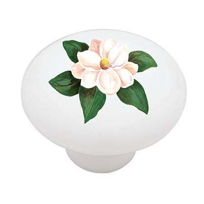 Lone Magnolia Ceramic Drawer Knob