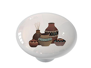 Southwestern Vases Ceramic Drawer Knob