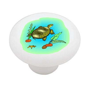 Sea Turtle Ceramic Drawer Knob