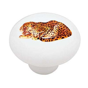 Leopard Stalk Ceramic Drawer Knob