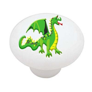 Little Castle Dragon Ceramic Drawer Knob