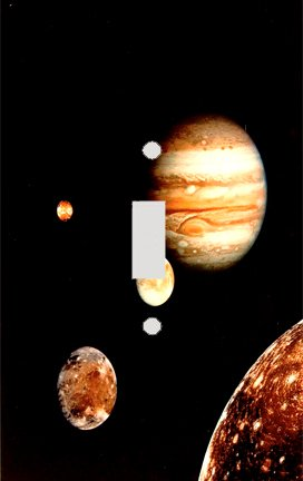 Jupiter and The Moons Switch Plate Cover