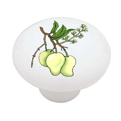 Pear Blossom Ceramic Drawer Knob
