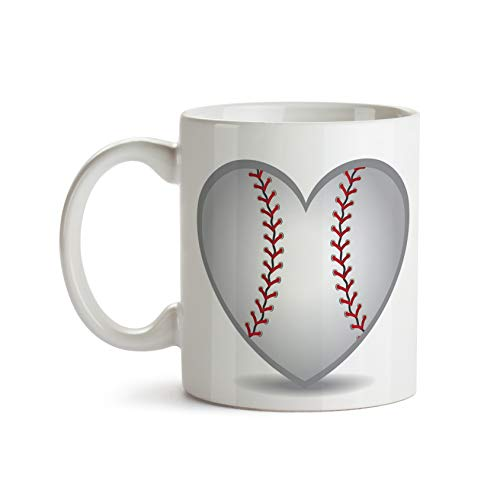 Heart Baseball 11oz Coffee Mug - Tea Mug