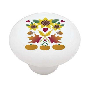 Autumn Spread Ceramic Drawer Knob