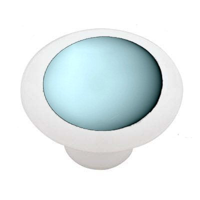 Planet Uranus White Ceramic Drawer Knob
