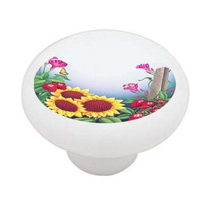 Spring Strawberry Garden Ceramic Drawer Knob