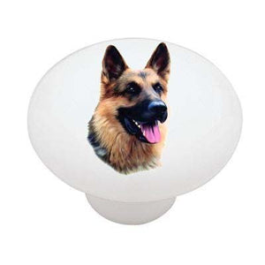 German Shepherd Ceramic Drawer Knob