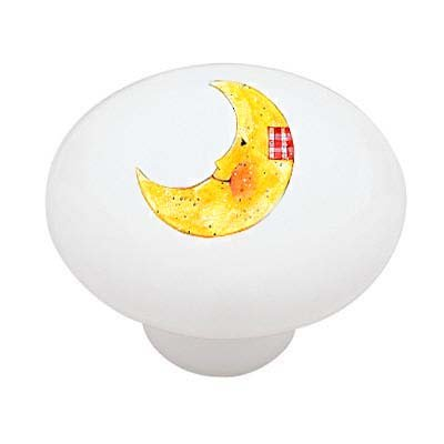 Patchwork Moon Ceramic Drawer Knob