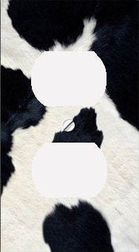 Cow Skin Print Outlet Cover