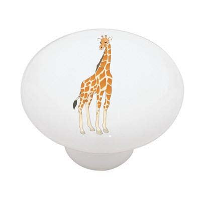 Standing Giraffe Ceramic Drawer Knob