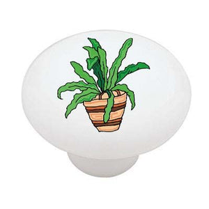 Southwestern Plant Ceramic Drawer Knob