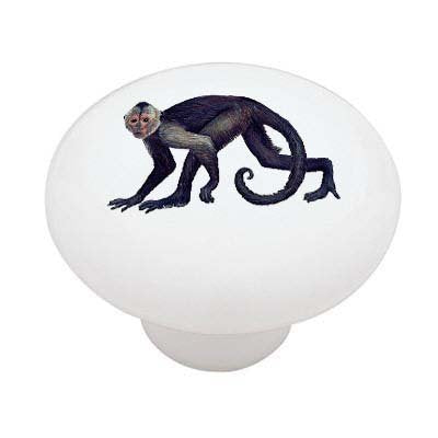 Spider Monkey Ceramic Drawer Knob