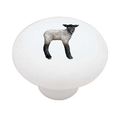 Little Lamb Ceramic Drawer Knob