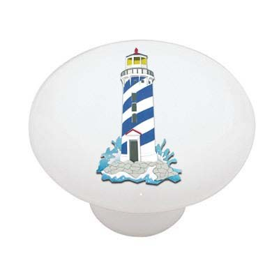 Beach Lighthouse II Ceramic Drawer Knob