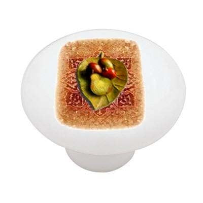 Tuscan Fruit Plate Ceramic Drawer Knob