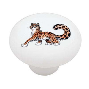 Lady Leopard Ceramic Drawer Knob
