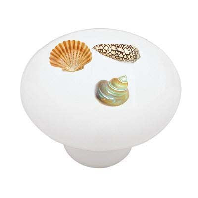 Seashell Trio Ceramic Drawer Knob