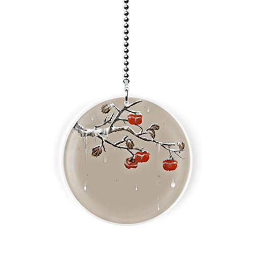 Asian Style Winter Star Cherry Tree Fan Pull