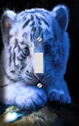 Baby White Tiger Switchplate - Switch Plate Cover