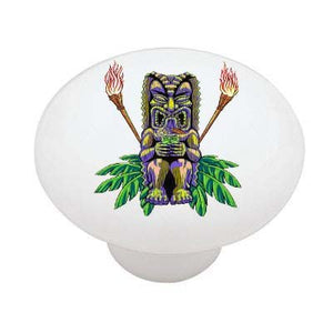 Cocktail Tiki Statue Ceramic Drawer Knob