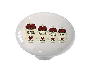 Kitchen Canisters Ceramic Drawer Knob