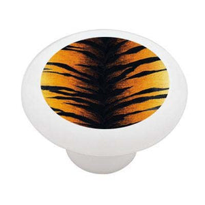 Tiger Stripe Print Ceramic Drawer Knob