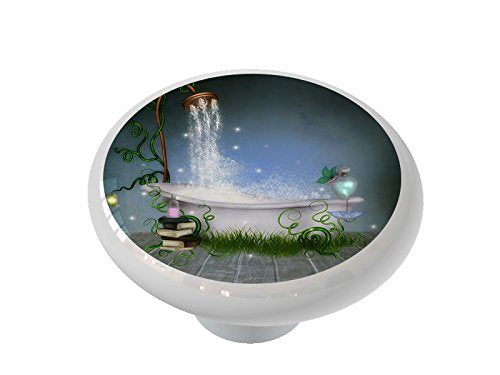 Ethereal Bathroom Gloss Ceramic Drawer Knob