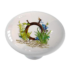 Tropical Fish Ship Wheel Reef Drawer Knob