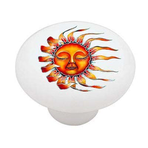 Sleepy Sun Ceramic Drawer Knob