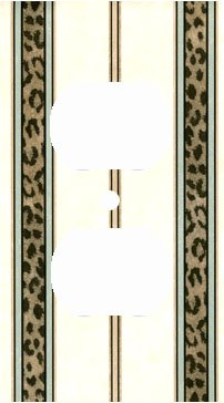 Leopard Skin Stripe Print Outlet Cover