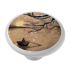 Asian Winter Plum Blossoms Drawer Knob