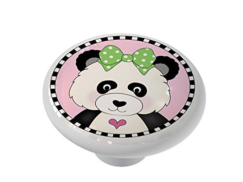 Little Panda Girl Ceramic Drawer Knob