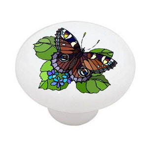 Butterfly Leaf Ceramic Drawer Knob