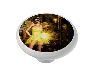 Happy Glow Fairy Ceramic Drawer Knob