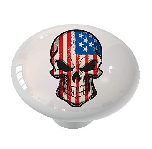 American Skull Drawer Knob by Gotham Decor