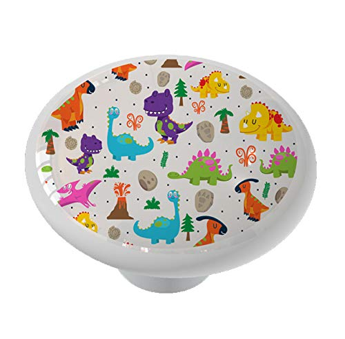 Little Dinosaur World Ceramic Drawer Knob