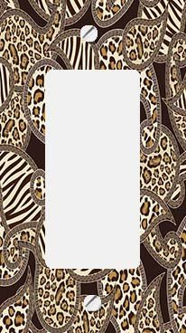 Animal Print Paisley GFI Rocker Switchplate Cover