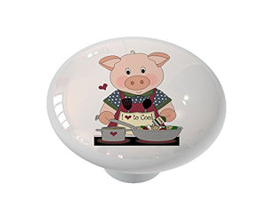 Pig Chef Ceramic Drawer Knob