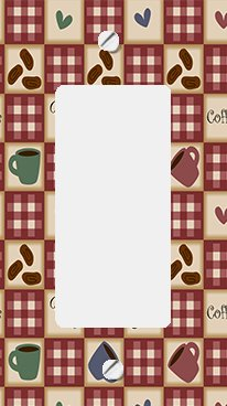 Coffee and Beans on Plaid GFI Rocker Switchplate Cover