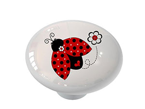Ladybug Whimsy Ceramic Drawer Knob